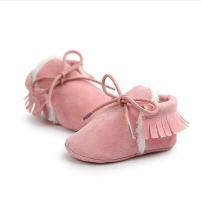 Baby Boots Newborn Boys Girls Soft Sole Crib Shoes Warm Anti-slip Sneakers First