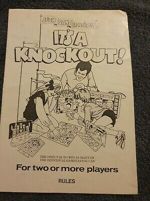 Vintage Its A Knock Out Board Game Rule Book By Denys Fisher