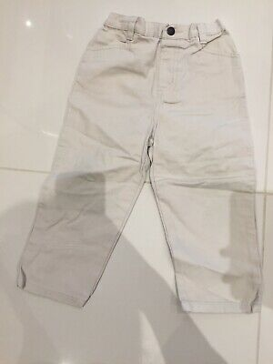 Boys NEXT Cream Beige corduroy Trousers - Age 3 Years - Worn Once