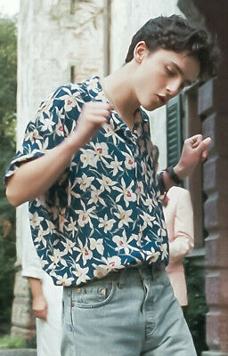 André Aciman Call Me by Your Name Timothée CMBYN Flower Cotton Short Sleeves