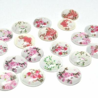 20 x Blossom Cabochons for Earrings 12mm 20 pieces in Pairs
