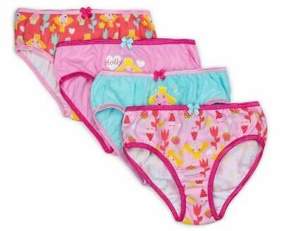 NEW BEN AND HOLLY GIRLS UNDERWEAR 4 x  BRIEF UNDIES SIZE 3-4  - 4  BRIEFS SET