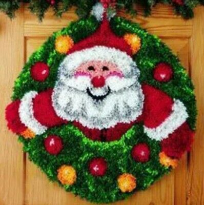 DIY Santa Make your own Rug Latch Hook Craft Father Christmas Xmas unique gift