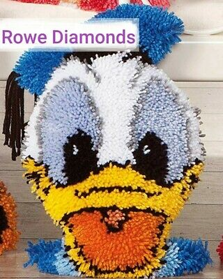 DIY Disney Donald Duck Make Your Own Cushion Pillow Cocer Latch Hook Craft Kit