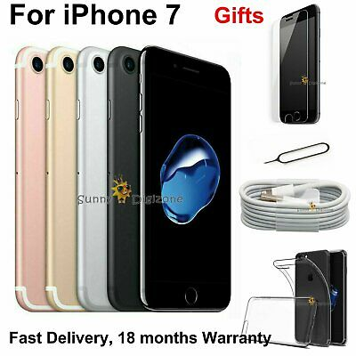 NEW Apple iPhone 7 32GB 128GB 256GB Unlocked Sim Free All Colours 4G Smartphone