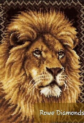 DIY Lion King of Jungel Make your own Latch Hook LARGE Rug Carpet Wild Cats New