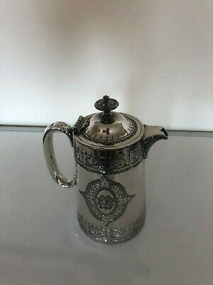 Lovely (Walker & Hall) Silver Plated Coffee  Pot  {Spcp  Z99A)