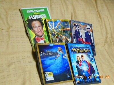 Disney Movie Bundle Five Live Action Dvd And Blu-Ray/Dvd Combo