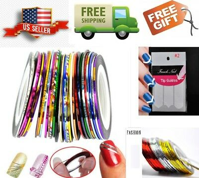 A: NEW Hot Colors Nail Art Rolls Striping Tape Line Tips DIY Decoration Sticker