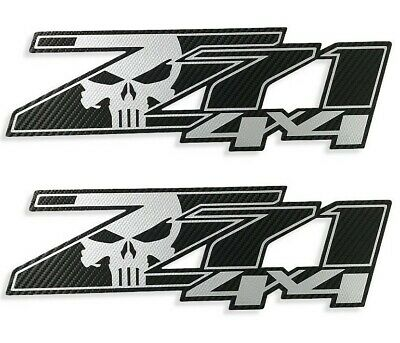 Chevy Silverado Z71 4x4 GMC GM Sierra Decals Stickers 1500 2500 Punisher Skull