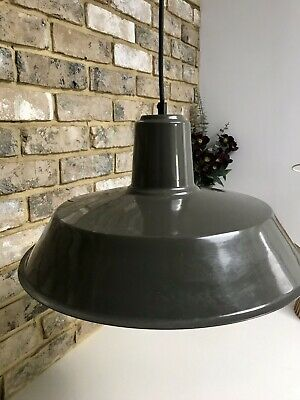 Masterlight Industrial Grey Metal Pendant Light