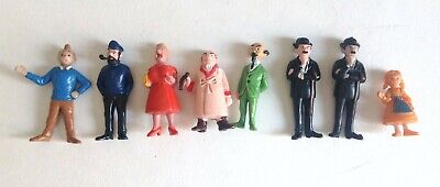 Figurines Esso Tintin lac aux requins TBE Haddock avec pipe