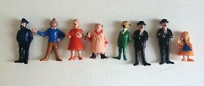 Figurines Esso Tintin lac aux requins TBE Haddock sans pipe