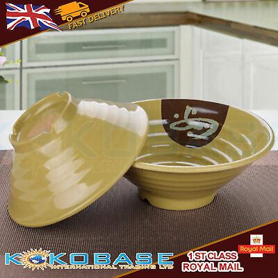 1x Plastic Kitchen Noodle Rice Salad Dish Bowl Japanese korean Style food lunch