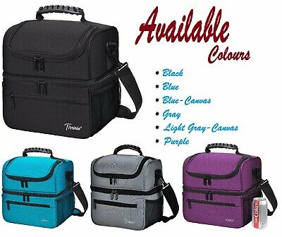 Tirrinia Extra Large Lunch Bag for Men Women Insulated Adult Reusable Meal Prep
