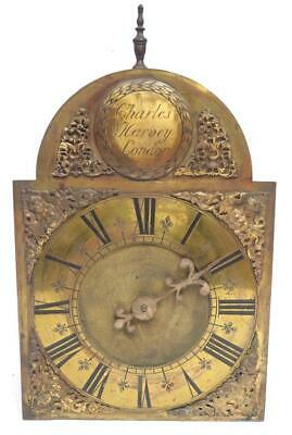 Antique English Verge Lantern Wall Clock C Harvey Of London C1725 Weight Driven