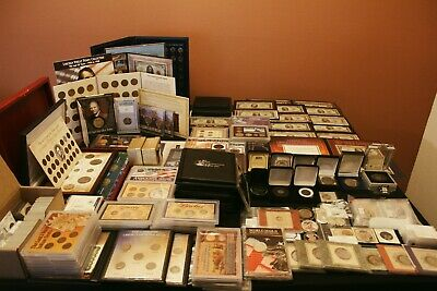 Massive Estate Sale Coin Collection SILVER, GOLD, PAPER, SETS, STAMPS, COINS!