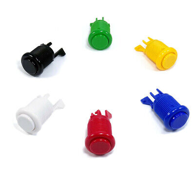 Boton Arcade Americano Convexo 28mm Pulsador Pushbutton Recreativa Bartop