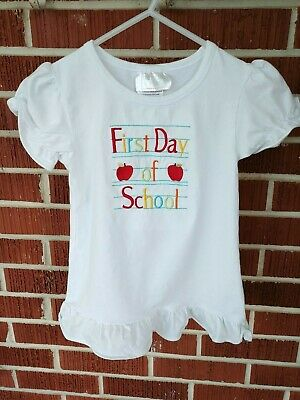 Southern Tots Back To School /Apple shirt girl size 6