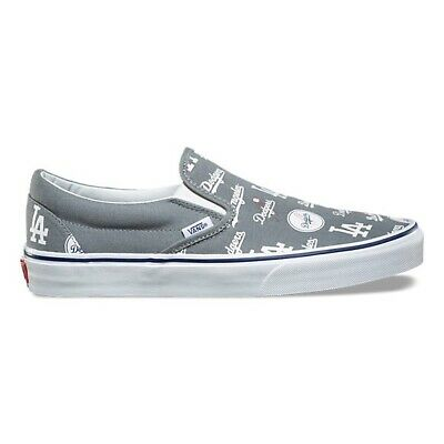 Vans X MLB Slip On Los Angeles Dodgers Men's Size 10 Grey Blue Rare Exclusive