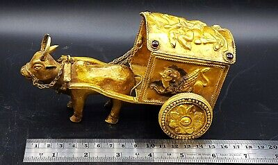 """""""LOOK..Extremely Rare Solid Gold Greek Thracian Carpentum Funereal Cart 200BC"""