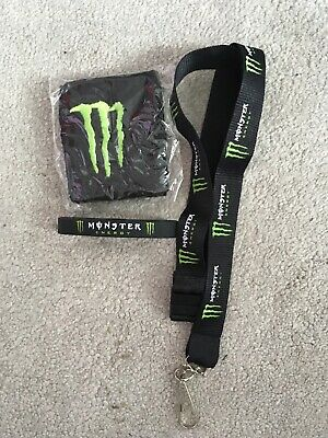 Monster Energy Wrist Band (sweat band), Rubber Wrist Band, Lanyard