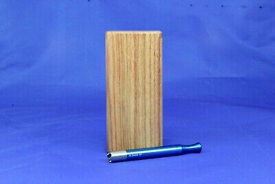 "4"" Classic Dugout One Hitter Exotic Wood Slide Top W/Blue Serrated Shark Tip Bat"