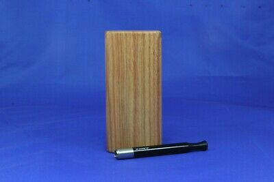 "4""Classic Dugout One Hitter Exotic Wood Slide Top W/Black Serrated Shark Tip Bat"