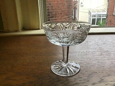 """Qty 4 WATERFORD Champagne/Tall Sherbert Clare Crystal Stemware Glasses 4 1/8"""""""