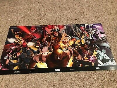 D23 Expo 2019 Poster Iron Studios 3 Piece Exclusive Gold Member Marvel IN HAND