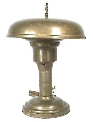 Mid Century Modern Steam Punk Industrial Bronze Patinated Tin Flying Saucer Lamp