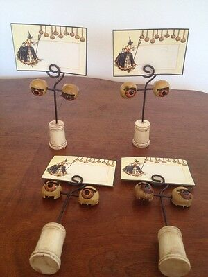 Bethany Lowe Halloween Eyeball Oddity Place Card, Photo Holder-Retired--set of 4