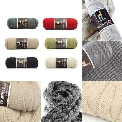 100g Alpaca Wool Medium Thickness Yarn Soft Worsted knitting Crochet Thread Q0R2