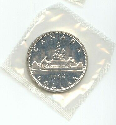 Canada 1966 PL Silver $1 One 1 Dollar Canadian .800 Ag EXACT COIN in RCM Plio