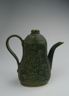 One Nice Chinese Antique Green Glazed Pottery Wine Pot