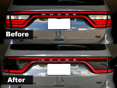 Crux Moto Tail Light Tint Air Release Dark Smoke fits Dodge Durango 2014 - 2020
