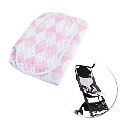 Baby stroller pad, 3D mesh breathable baby dining chair / stroller cushion pink