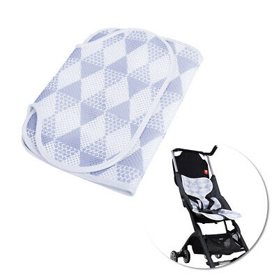 Baby stroller pad, 3D mesh breathable baby dining chair / stroller cushion gray