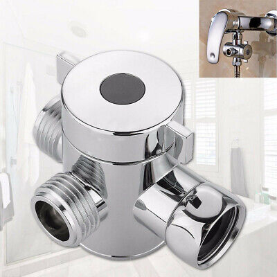 1/2 Inch Three Way T-adapter Valve For Toilet Bidet Shower Head Diverter Valve