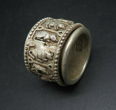 Ancient Solid Silver Mythic Animal Rings