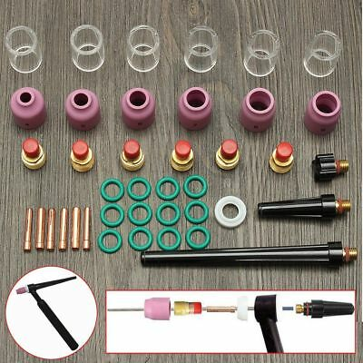 Lot Of 40PC TIG Welding Torch Stubby Gas Lens Pyrex Glass Cup Kit For WP-9/20/25