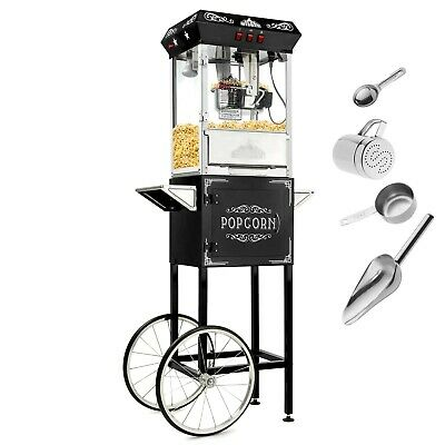 Olde Midway Vintage Style Popcorn Machine Maker Popper with Cart and 8-Ounce ...
