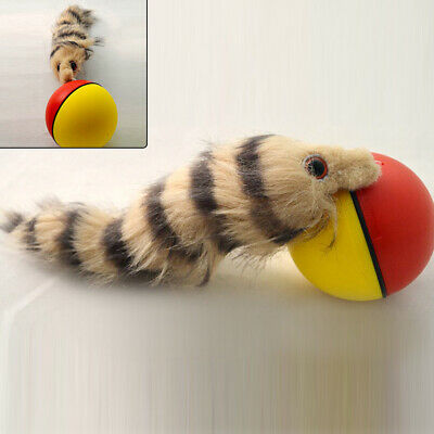 Dog Cat Weasel Motorized Funny Rolling Ball Pet Appear Moving Alive Toy Portable