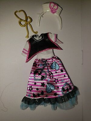 NEW Monster High ShriekWrecked Nautical Ghouls Draculaura Doll PARTIAL Outfit