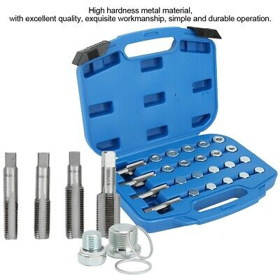 64pcs Sump Oil Pan Thread Repair Maintenance Accessory Drain Plug Tool Kit