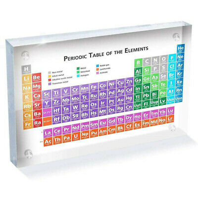 Periodic Table Of The Elements Toy Acrylic Chemical Transparent Display Board