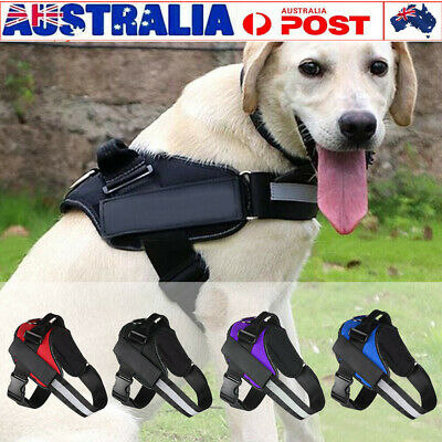 No-pull Dog Pet Harness Reflective Outdoor Safety Vest Jacket Padded Handle AU