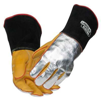 Lincoln Electric K2982 Top Grain Cowhide/Aluminized Welding Gloves, Large
