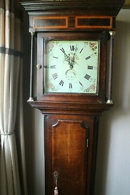 Antique longcase clock 18th century 30hr Samuel Dalton Rugby