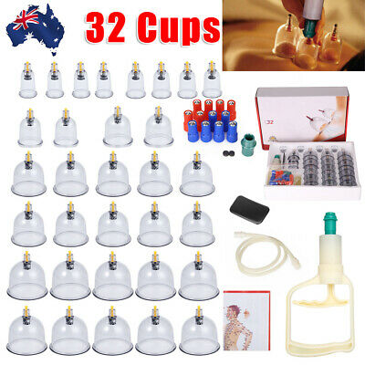 32 Cups Vacuum Cupping Set Acupuncture Suction CUP Massager Pain Relief